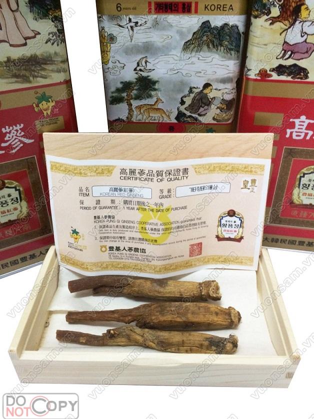 Sâm Nguyên Củ Khô Punggi 150g Củ Trung ( 11-15 củ)