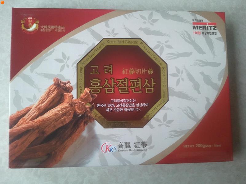 Hồng Sâm Lát Hàn Quốc Tẩm Mật Ong Hiệu MERITZ